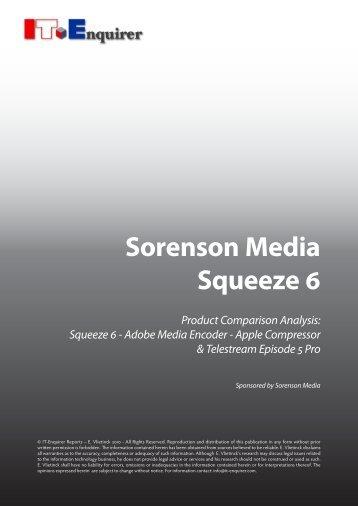 Sorenson Media Squeeze 6 - IT Enquirer