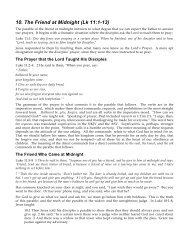 10. The Friend at Midnight (Lk 11:1-13) PDF - Gospel Lessons