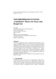 A Qualitative Theory for Fuzzy and Rough Sets - Department of ...