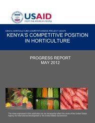 kenya's competitive position in horticulture - Hortinews.co.ke