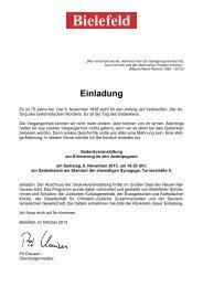 9. Nov. 2013, 18.30 Uhr, Gedenkstein am Standort der ehemaligen ...