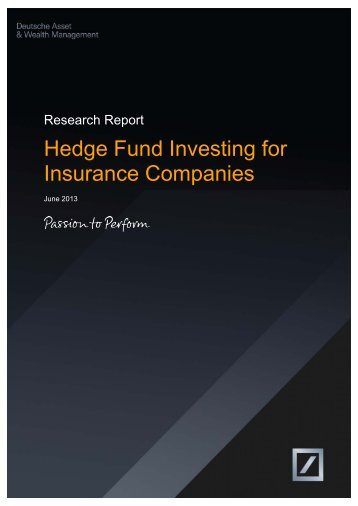 Hedge Fund Investing for Insurance Companies (June 2013)
