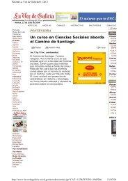 Un curso en Ciencias Sociales aborda el Camino de Santiago - Duvi