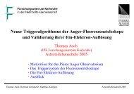 Neuer Triggeralgorithmus der Auger-Fluoreszenzteleskope und ...