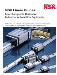 Interchangeable Series for Industrial Automation ... - NSK Americas