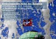 Hydrologischer Atlas der Schweiz HADES - Gruppe für Hydrologie ...