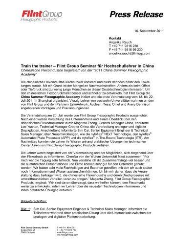 Train the trainer – Flint Group Seminar für Hochschullehrer in China