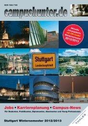 Ausgabe Stuttgart Wintersemester 2012 - campushunter.de