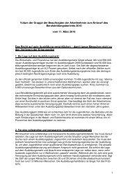 Stellungnahme zum Berufsbildungsbericht - Wir gestalten ...