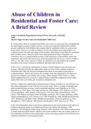 Abuse of Children in Residential and Foster Care