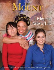 Living the Artist's Life - Mount St. Mary's College