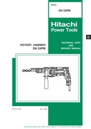ROTARY HAMMER Model DH 24PM - Hitachi