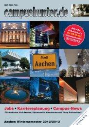 Ausgabe Aachen Wintersemester 2012 - campushunter.de