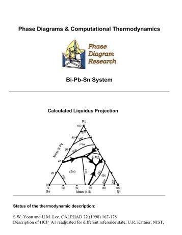 Bi Cu Sn Phase Diagram Computational Thermodynamics Matdl