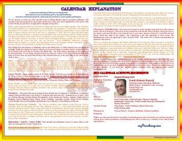 Guruji Sangat Seattle 2013 Hindu Calendar - myPanchang.com