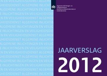 Jaarverslag 2012 - AIVD