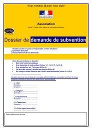 Dossier de demande de subvention - CNDS