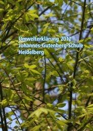 Umwelterklärung 2012 - Johannes-Gutenberg-Schule Heidelberg