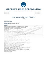 AIRCRAFT SALES CORPORATION - Business Air Today