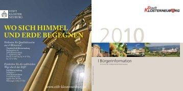 wo sich himmel und erde begegnen - Stadtgemeinde Klosterneuburg