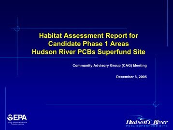 Habitat Assessment Report for Candidate Phase 1 Areas Hudson ...