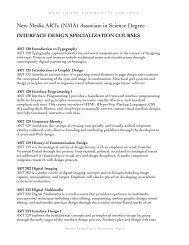 Interface Design Course Descriptions - KCC New Media Arts