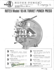 Rotex MD 18AK Turret Punch Press Brochure - Sterling Machinery