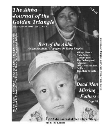 Journal 1a (PDF) - The Akha Heritage Foundation