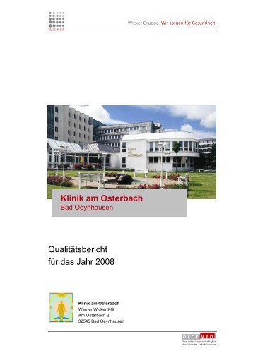 Qualitätsbericht für das Jahr 2008 Klinik am Osterbach