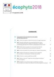 Plan Ecophyto 2018 - Ministère de l'agriculture, de l'agroalimentaire ...