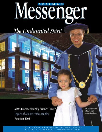 Summer/Fall 2002 (Vol. 116 No. 1) (PDF) - Spelman College: Home