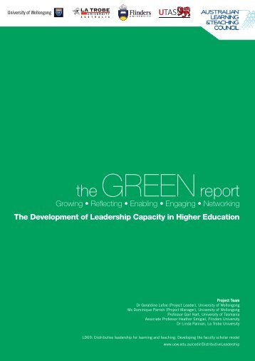 GREEN report - University of Wollongong
