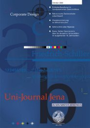 Uni-Journal Jena 10/00 - Friedrich-Schiller-Universität Jena