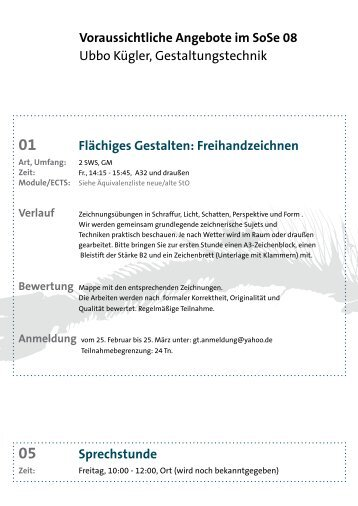Angebot SoSe 2008 als PDF - Wikema.de