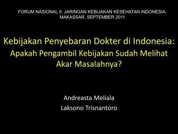 Distribusi Dokter Makasar.AndreMelialaB1.pdf - Kebijakan ...