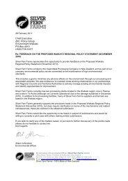 Silver Fern Farms Submission 28 Feb 2011 - Waikato Regional ...