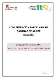 concentración parcelaria de cabañas de aliste (zamora) - ITACyL
