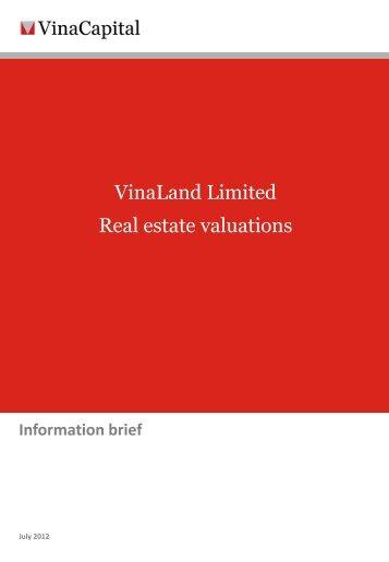 VNL real estate valuations - VinaCapital