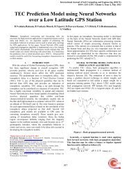 TEC Prediction Model using Neural Networks over a Low Latitude ...