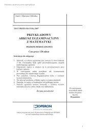 przykładowy arkusz egzaminacyjny z matematyki - Sqlmedia.pl