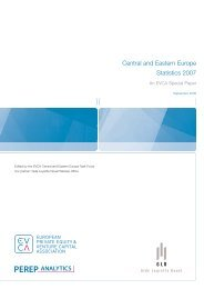 Central and Eastern Europe Statistics 2007 - CVCA.cz