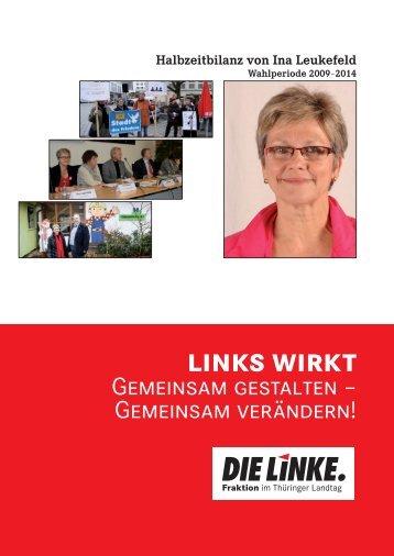 meine halbzeitbilanz - Ina Leukefeld