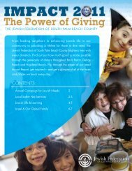 Impact Report 2011 PDF Document - Jewish Federation of South ...