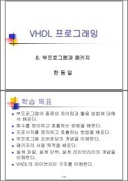 VHDL 프로그래밍