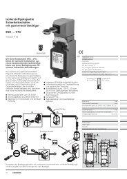 Isolierstoffgekapselte Sicherheitsschalter mit getrenntem Betätiger ...