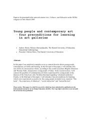 Young people and contemporary art – four preconditions for ...