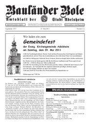 Gemeindefest der Evang. Kirchengemeinde Adelsheim am Sonntag ...