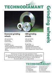 Grinding wheels - Technodiamant U.S.A. Inc.