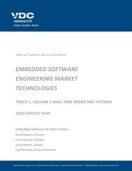 embedded software engineering market technologies - VDC Research