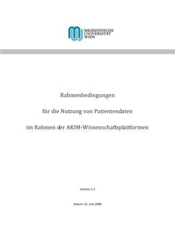 Nutzung von Patientendaten im Rahmen von AKIM
